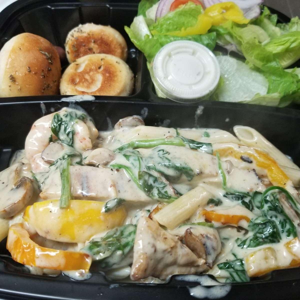 L Box Chicken & Shrimp Fiorentina
