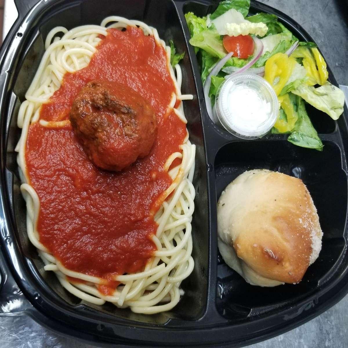L Box Spaghetti with Meatball