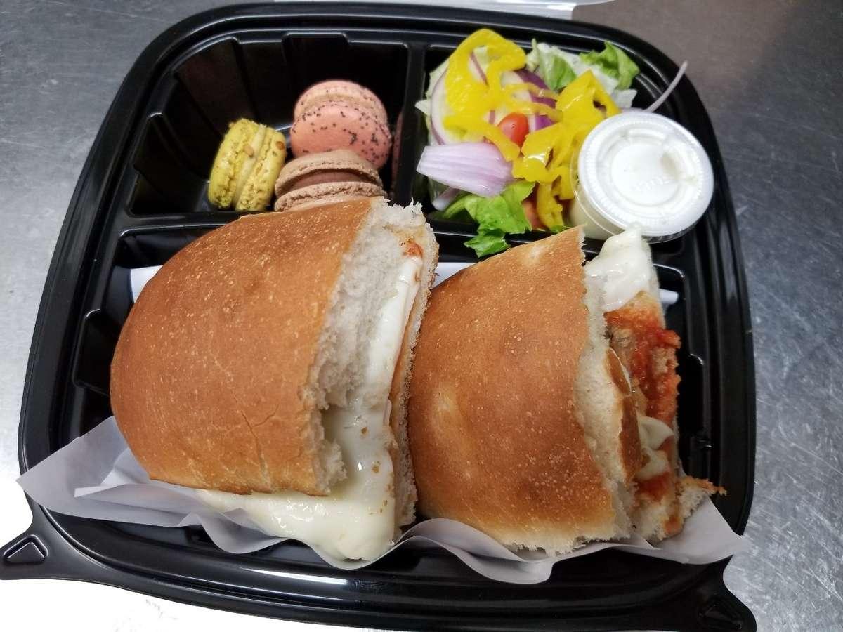 L Box ChIcken Parm Sandwich