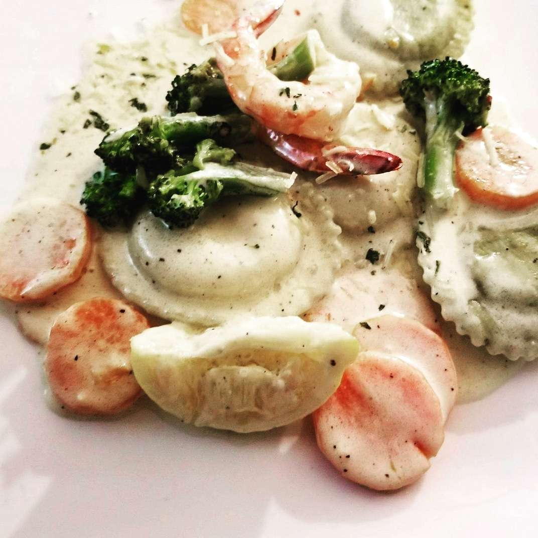 Shrimp Scampi Ravioli