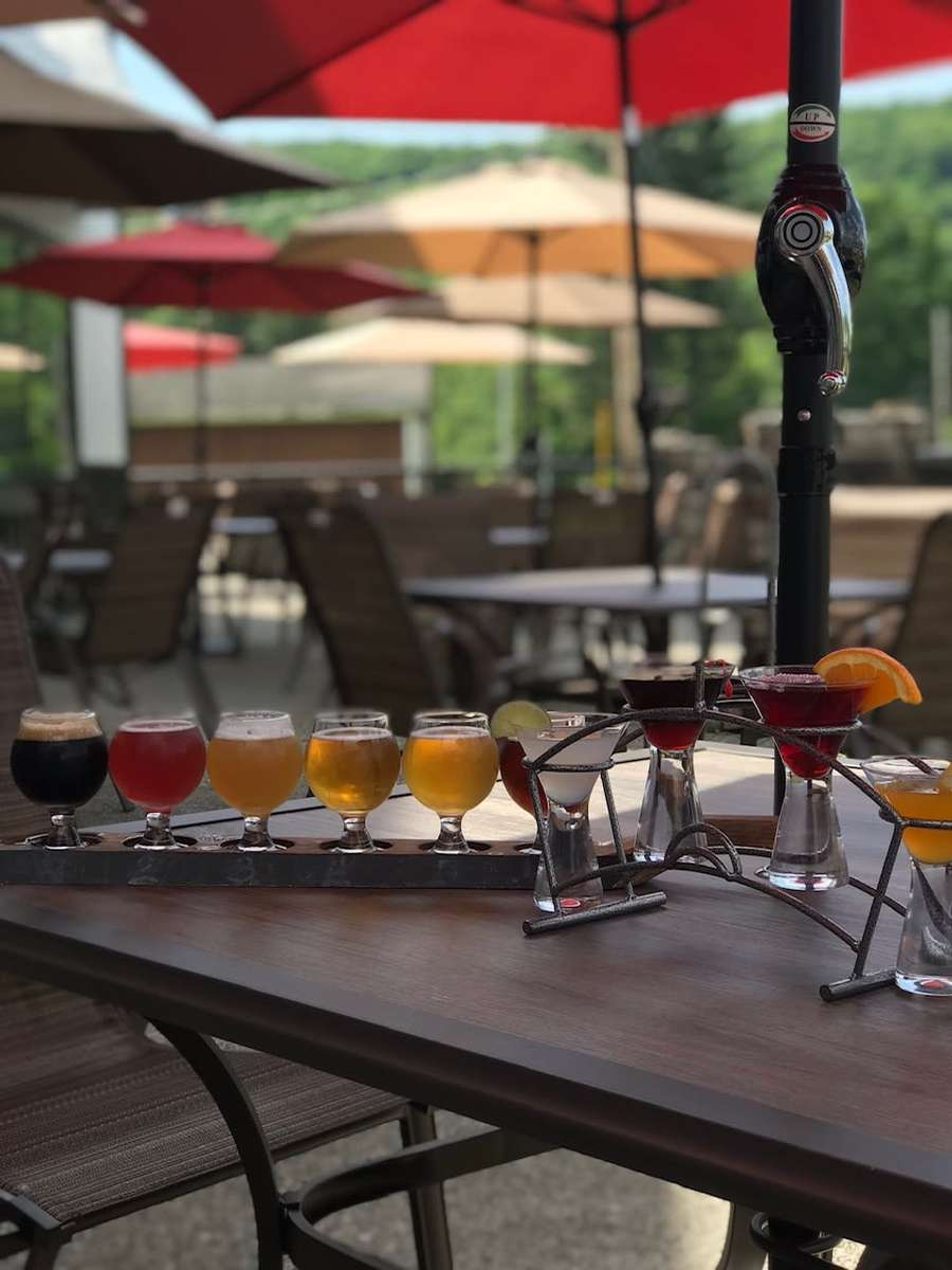 beer and cocktail flights