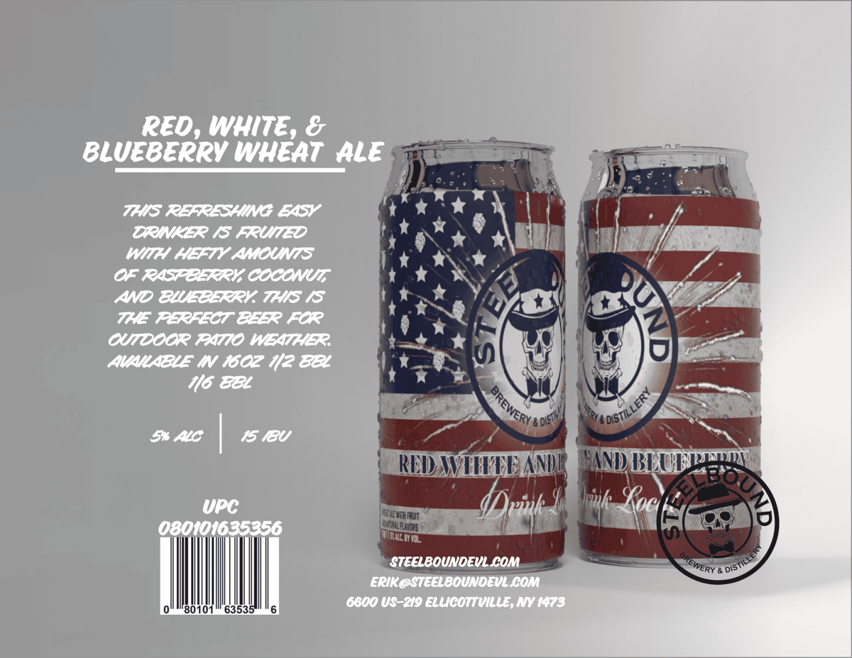 Red, White & Blueberry Wheat Ale
