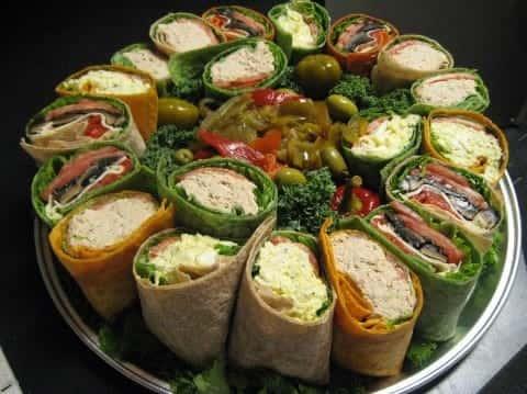 Wrap platter for catering order