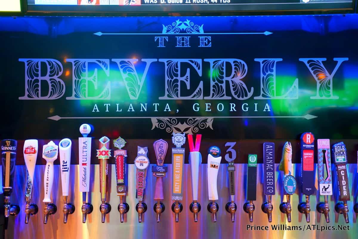 Beer taps at The Beverly Atlanta