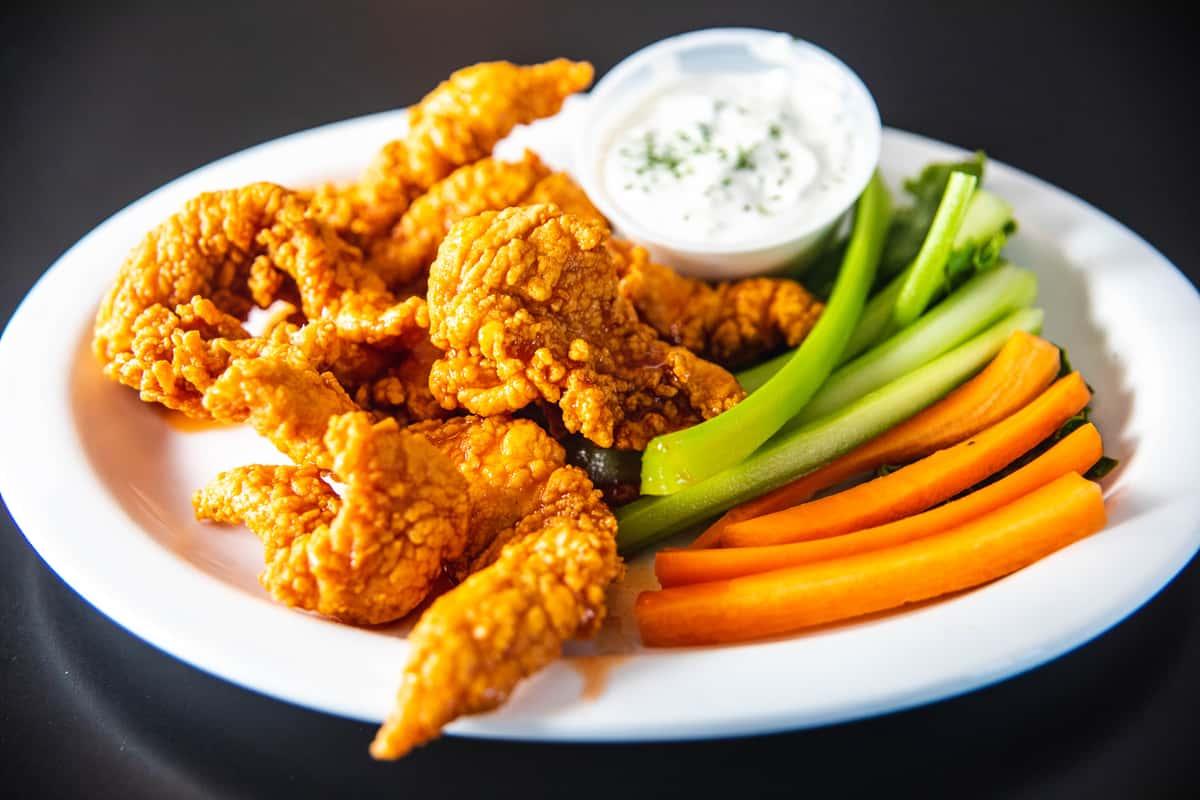 Buffalo or Chicken Tender Plate