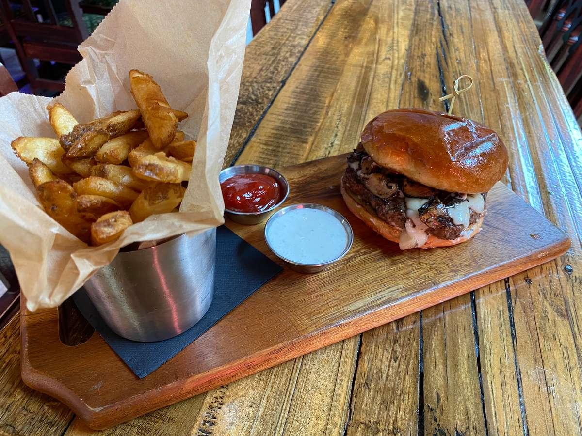 Wild Mushroom +Truffle Burger
