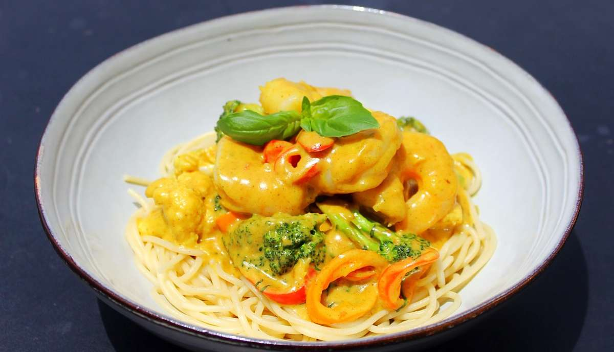 Curry Shrimp Rasta Pasta
