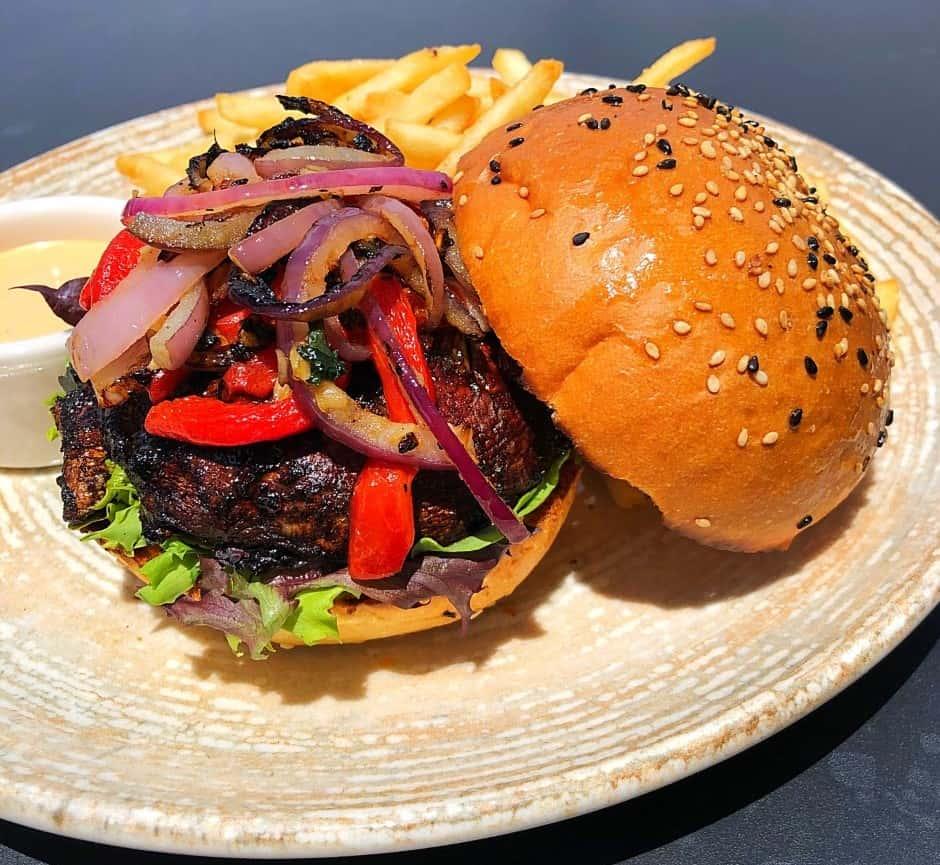 Jerk Portbello Mushroom Burger