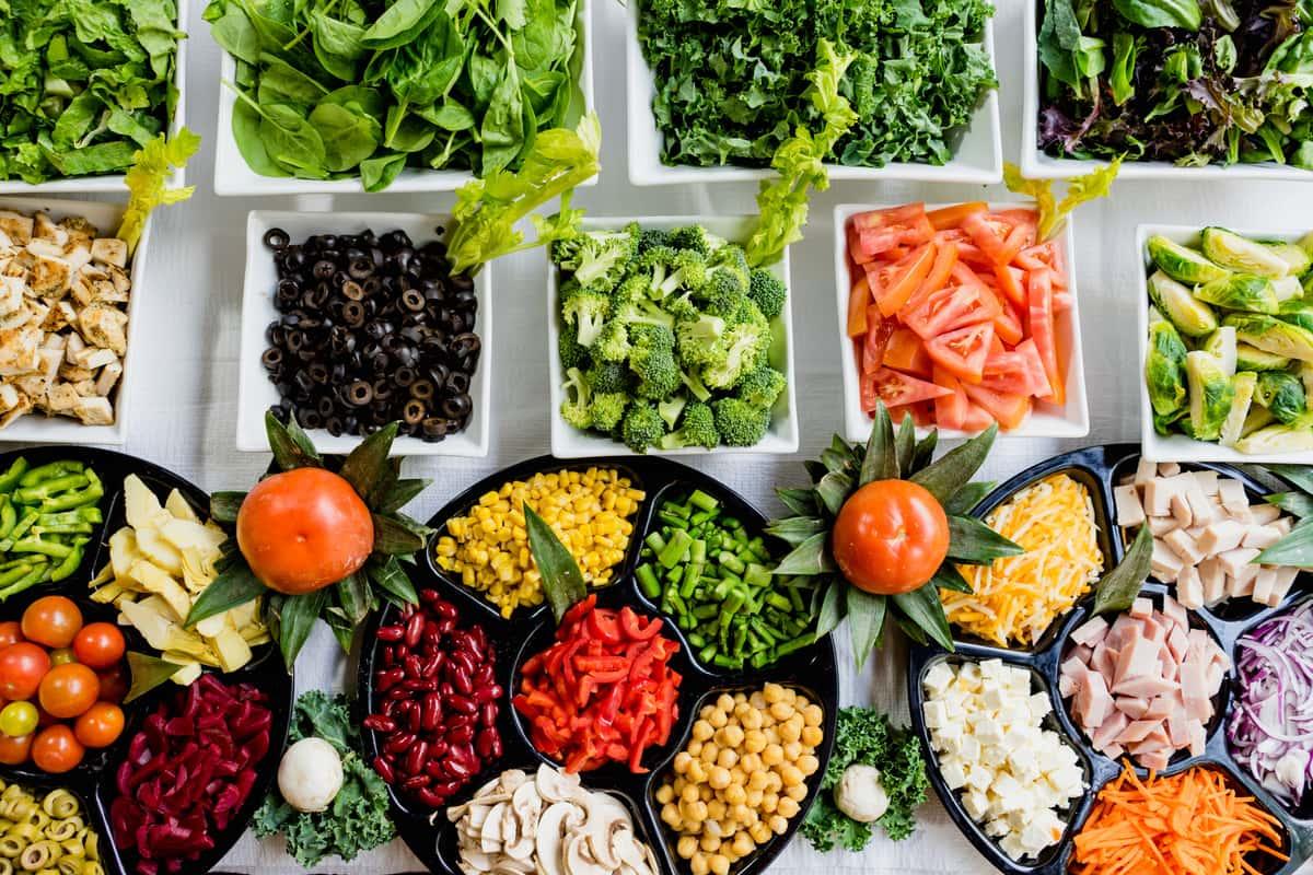 catered veggies