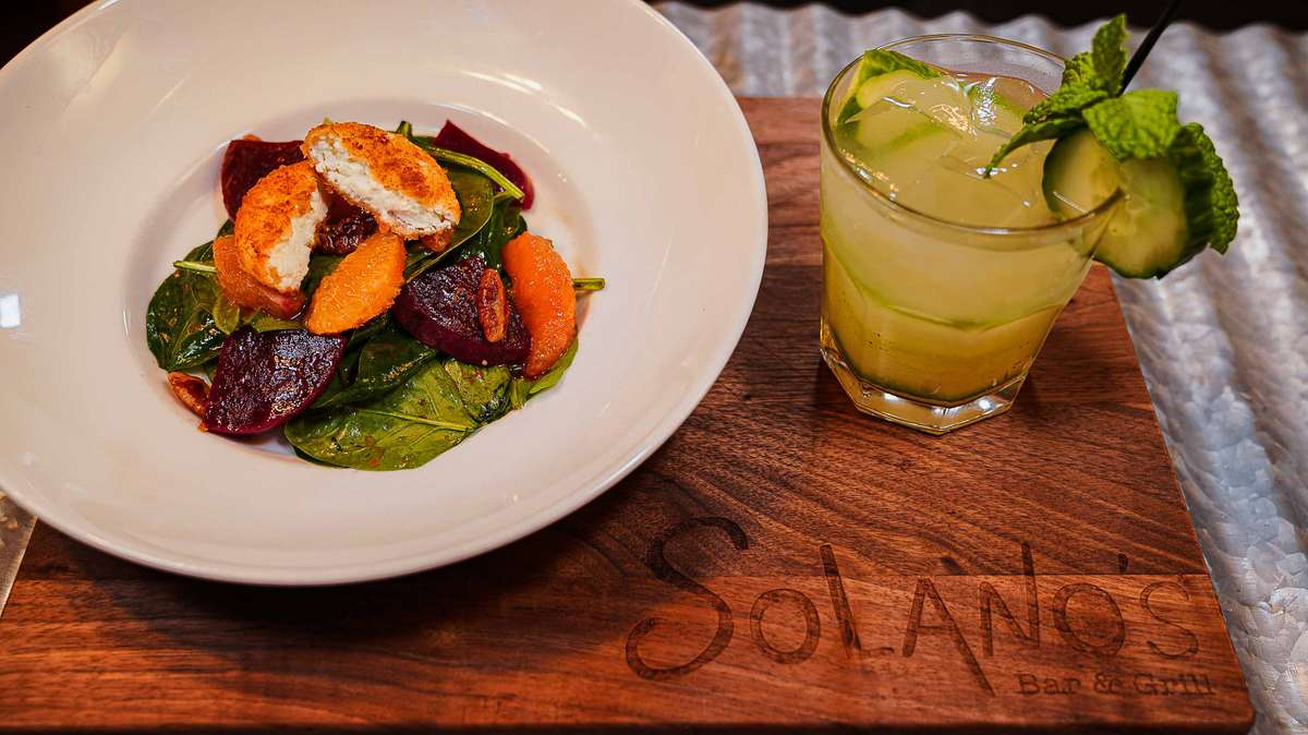Spinach & Beet Salad