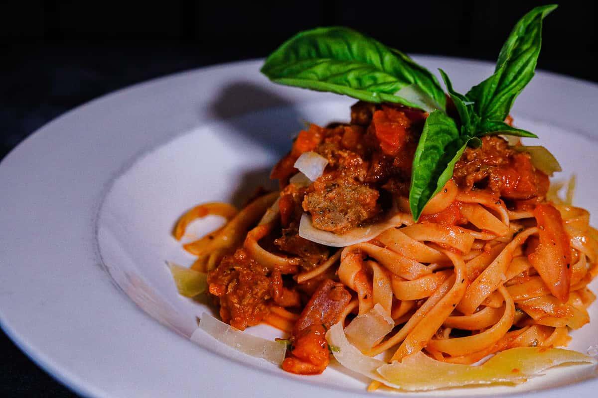 Italian Sausage Fettuccine