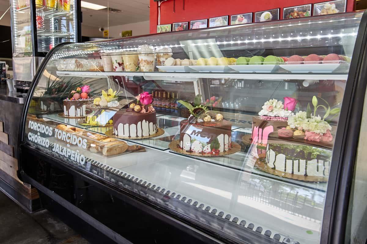 cake display area