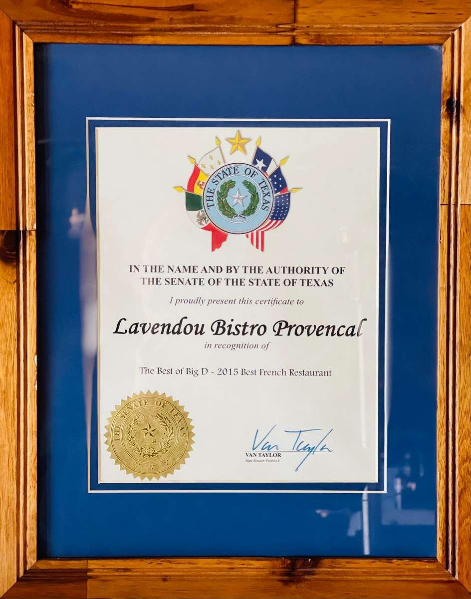 Recognition by Van Taylor State Senator
