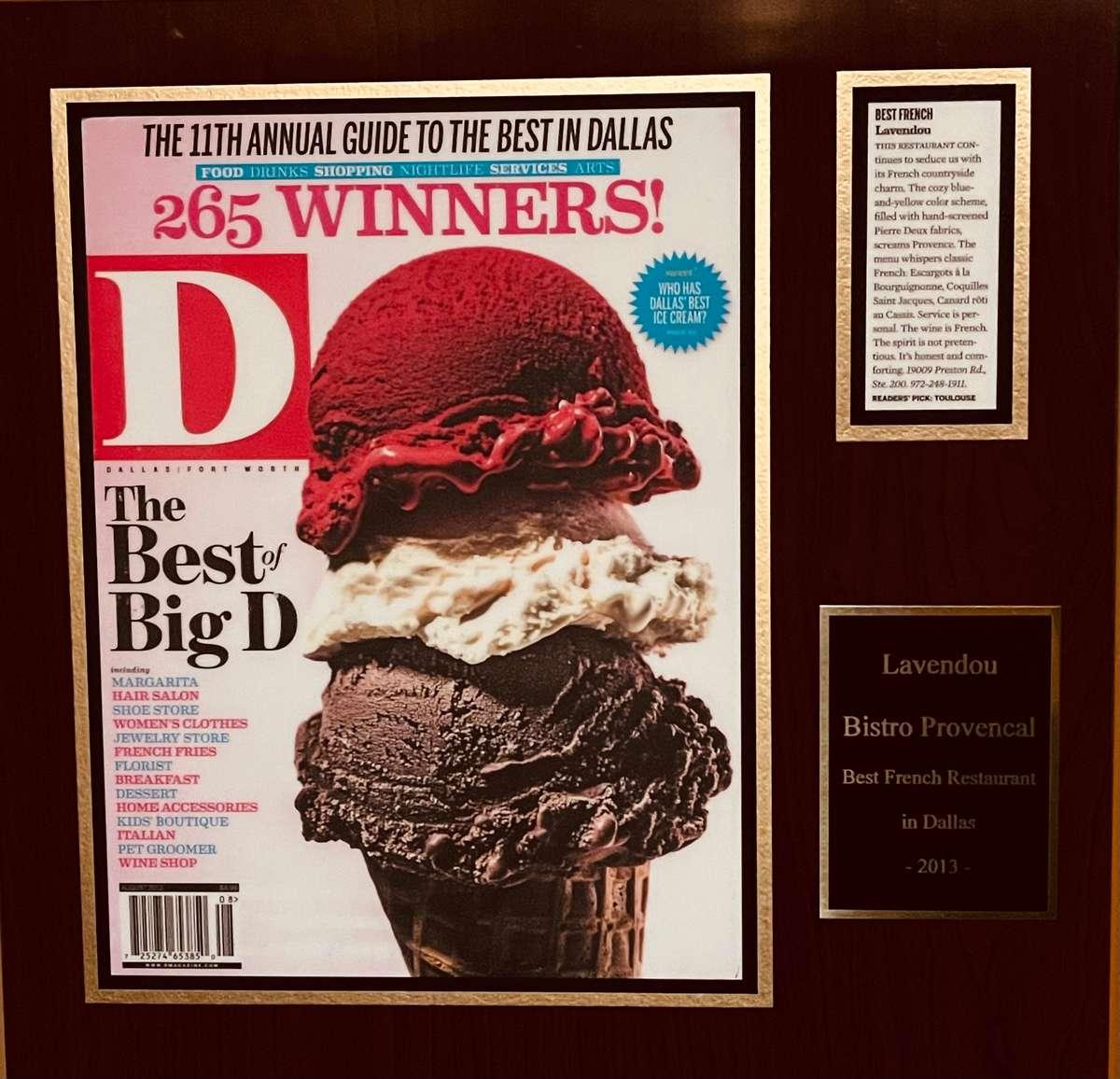 Best French Restaurant in Dallas 2012