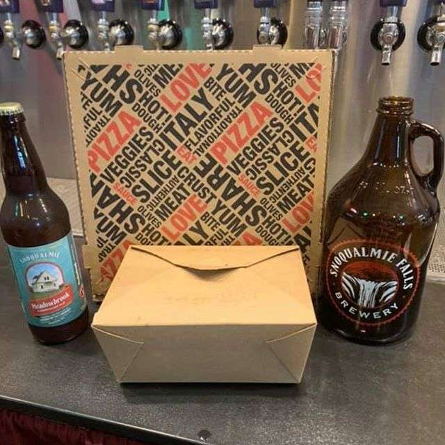 beer bottles and box