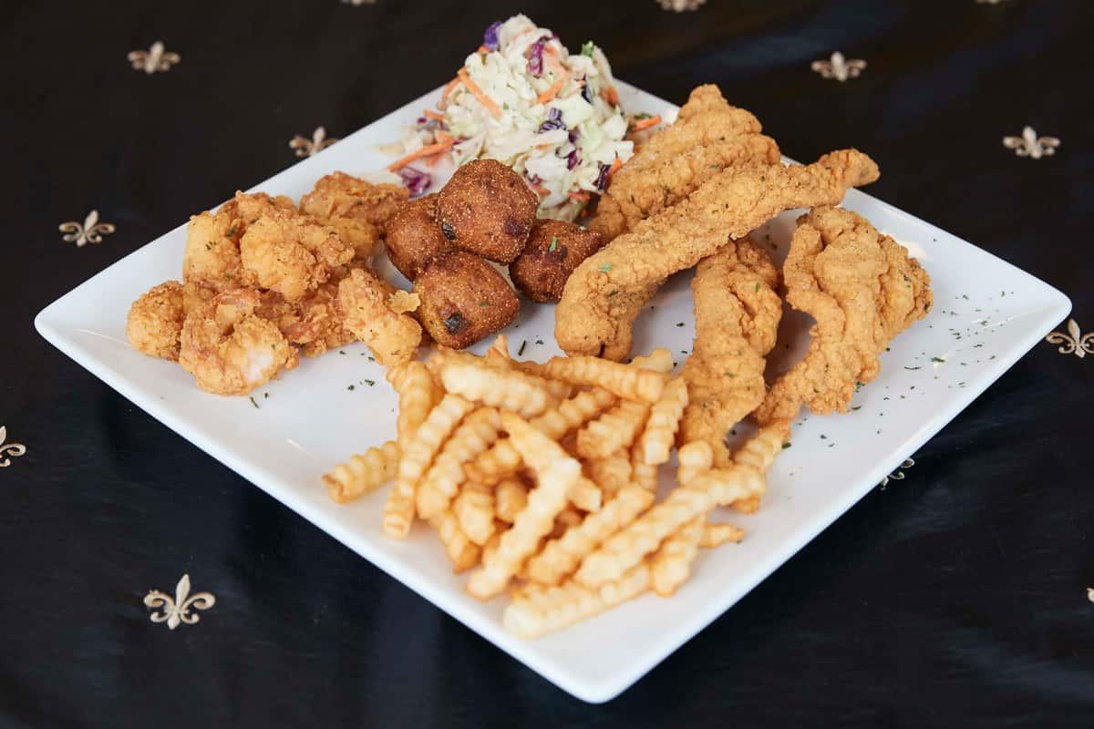 Catfish, Oyster & Shrimp Platter