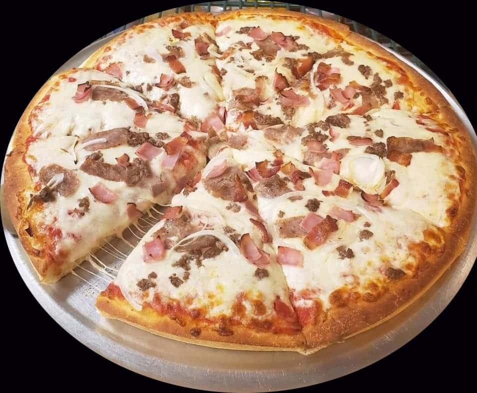 Round Deep Dish Cheese Pizza