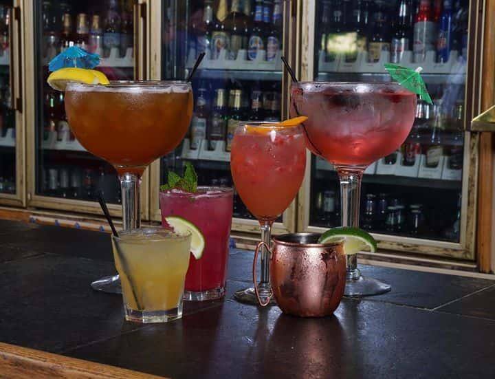 drinks on the bar