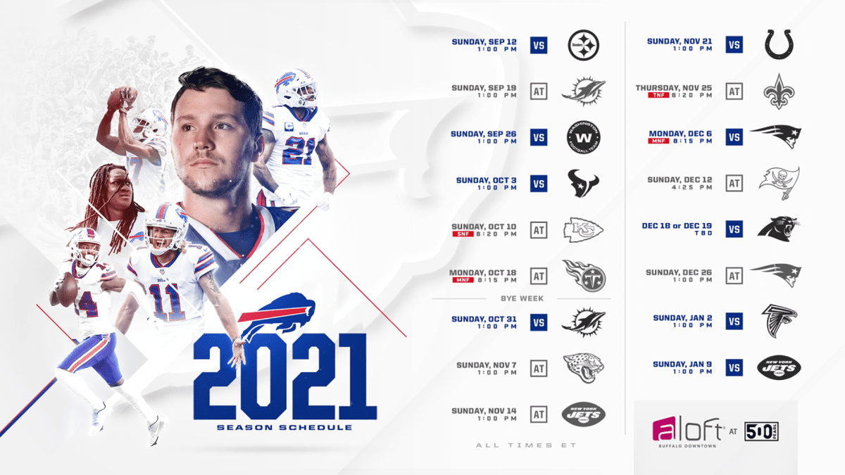 2021 Buffalo Bills schedule