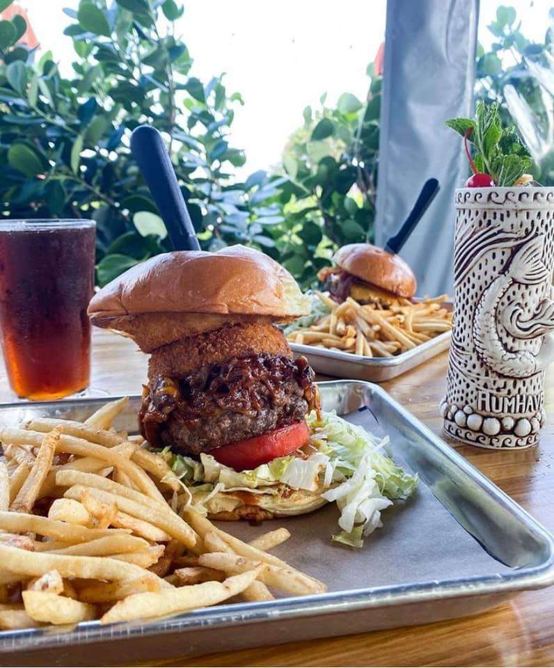 Cowboy burger and fries