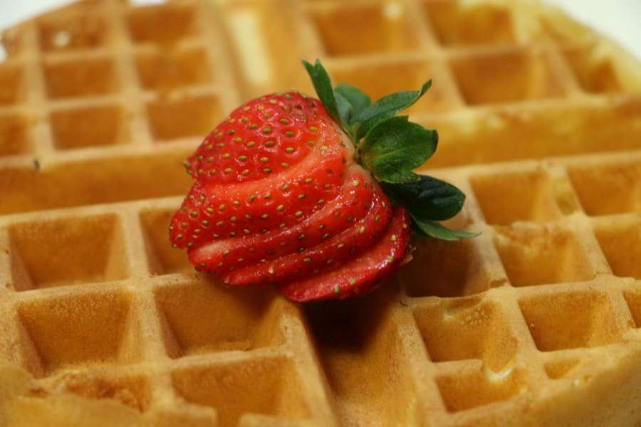 Belgian Waffle With Syrup