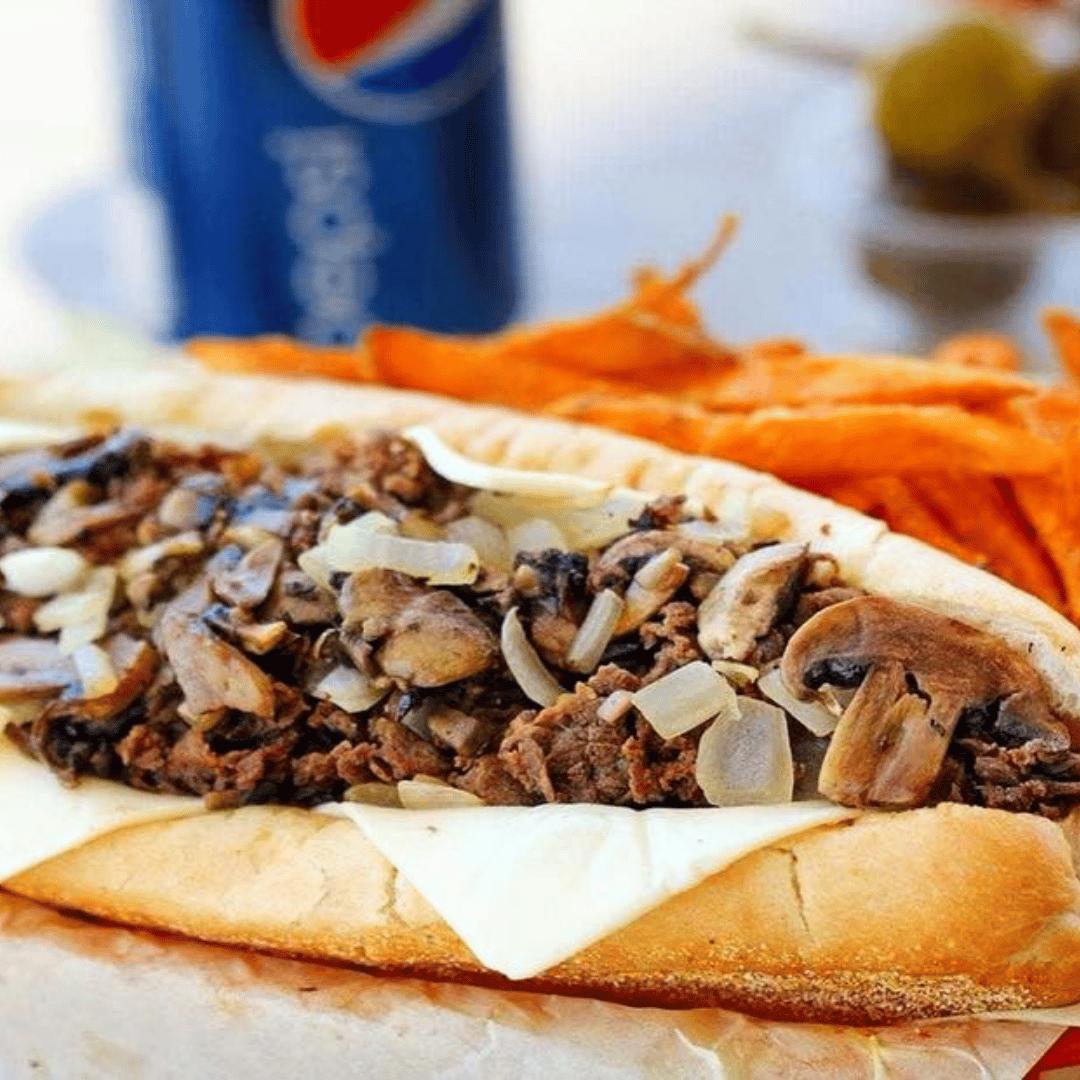 Steak, Mushroom & Cheese