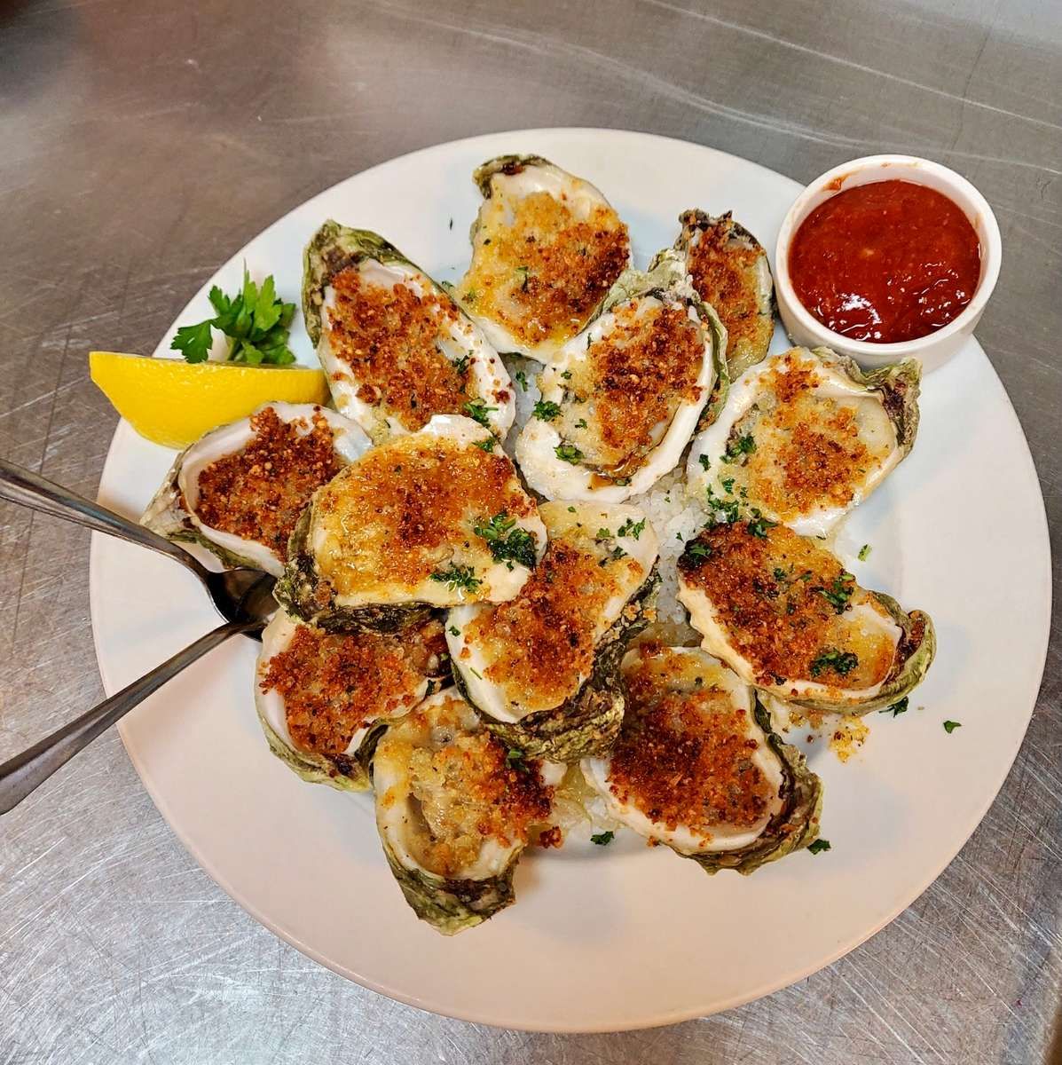 Full Dozen Grilled Gulf Oysters