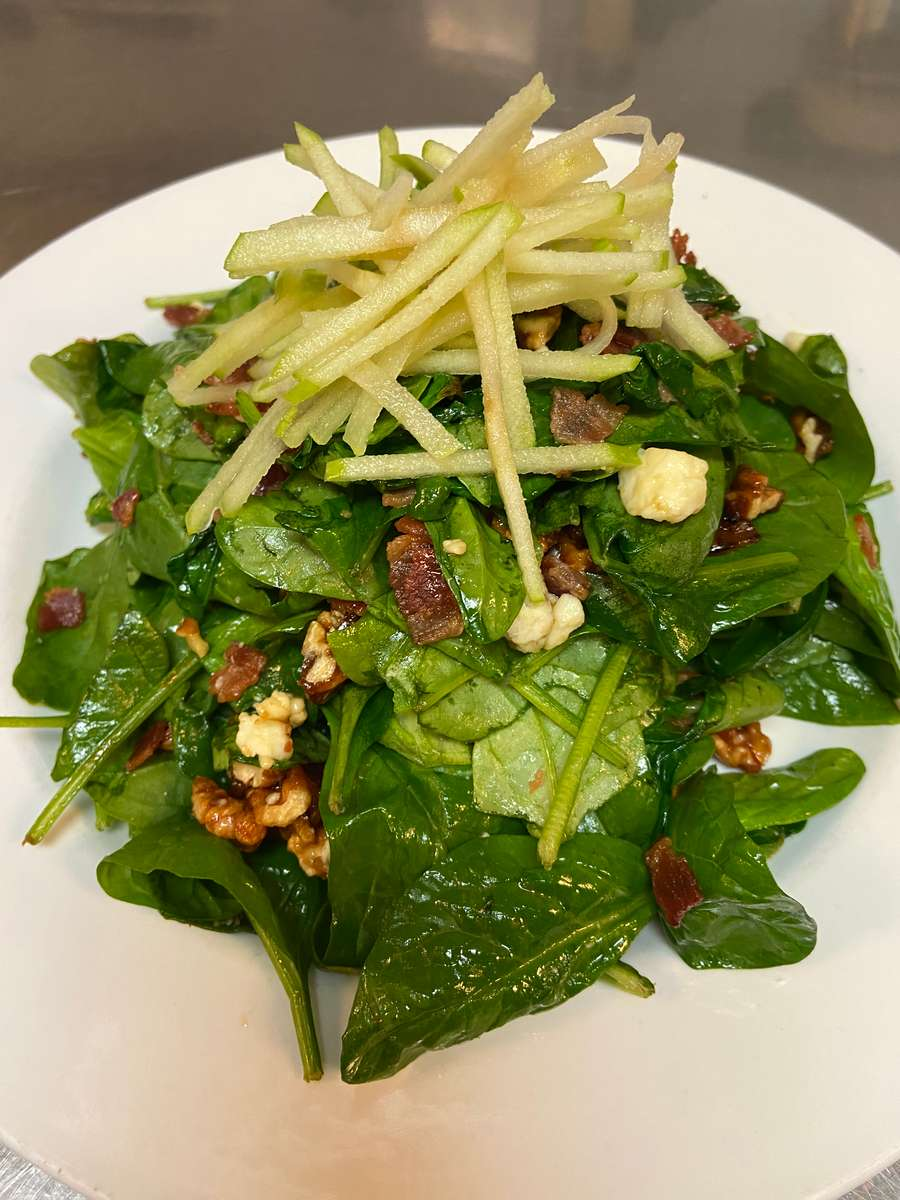 Chris McDs Warm Spinach Salad