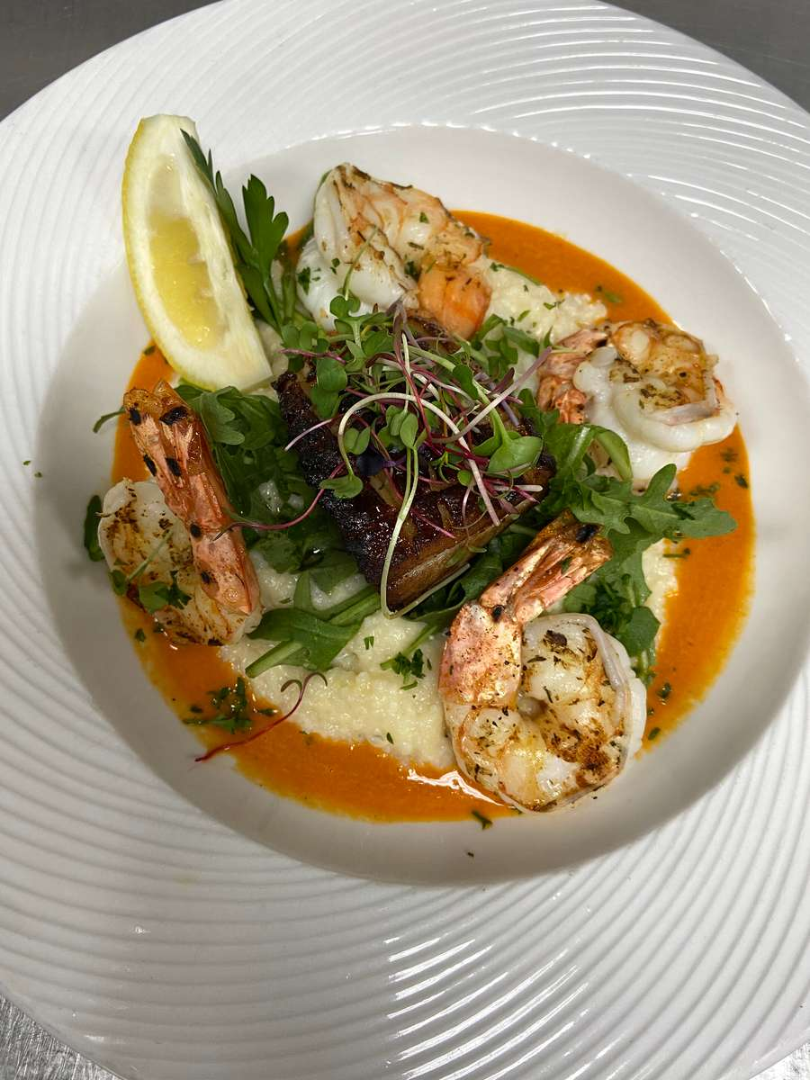Jumbo Shrimp and Gritz