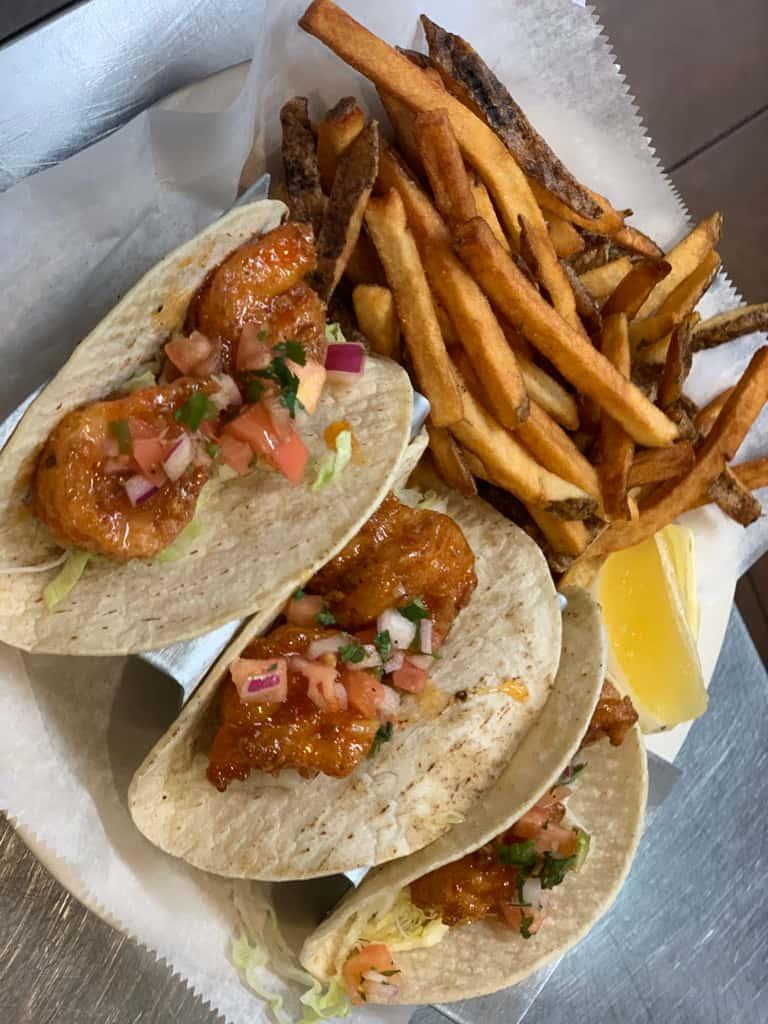 Sweet Chili Shrimp Tacos (Fridays only)