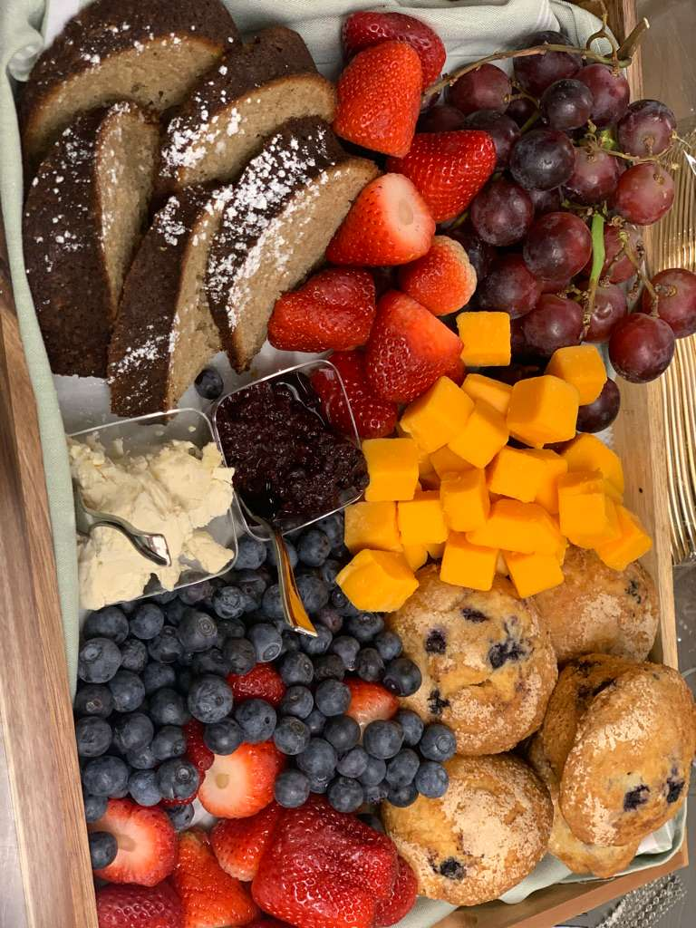 muffin fruit tray