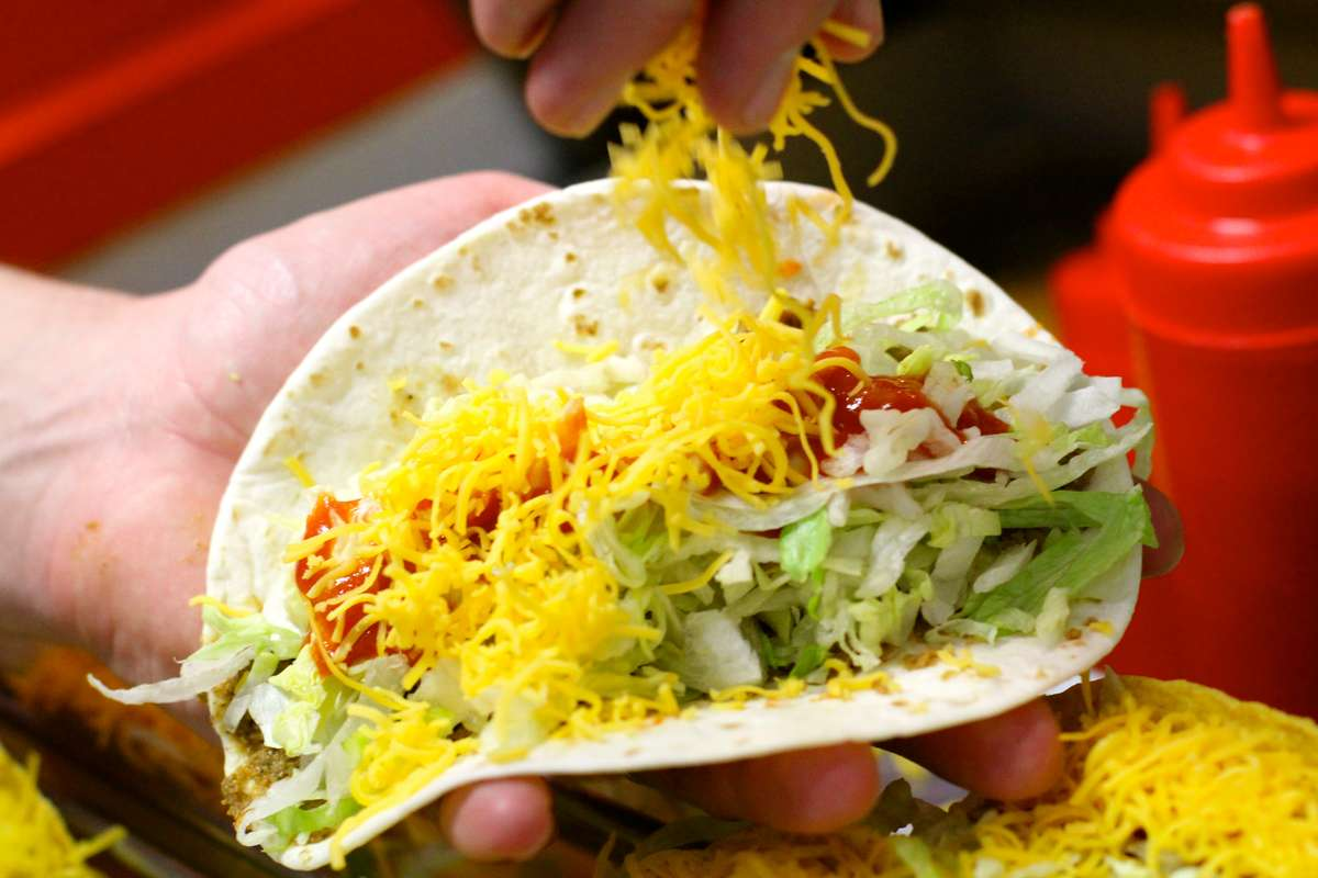 prepping tacos