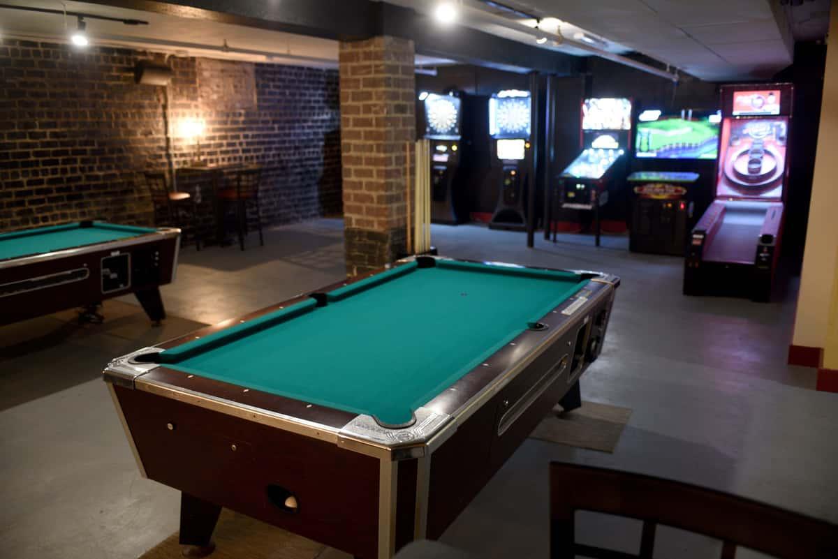 basement pool tables
