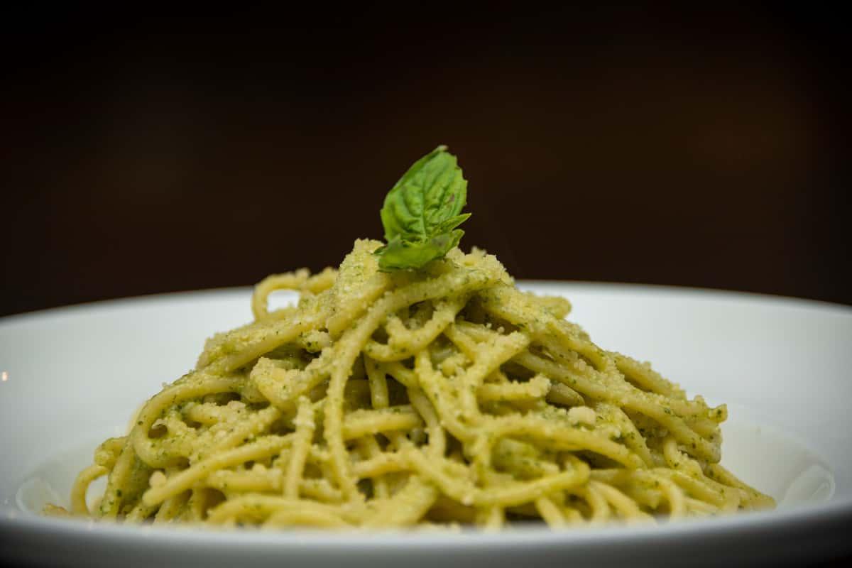 Spaghetti with Pesto Sauce