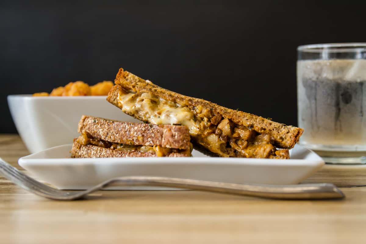 Ground Chicken Patty Melt Sandwich