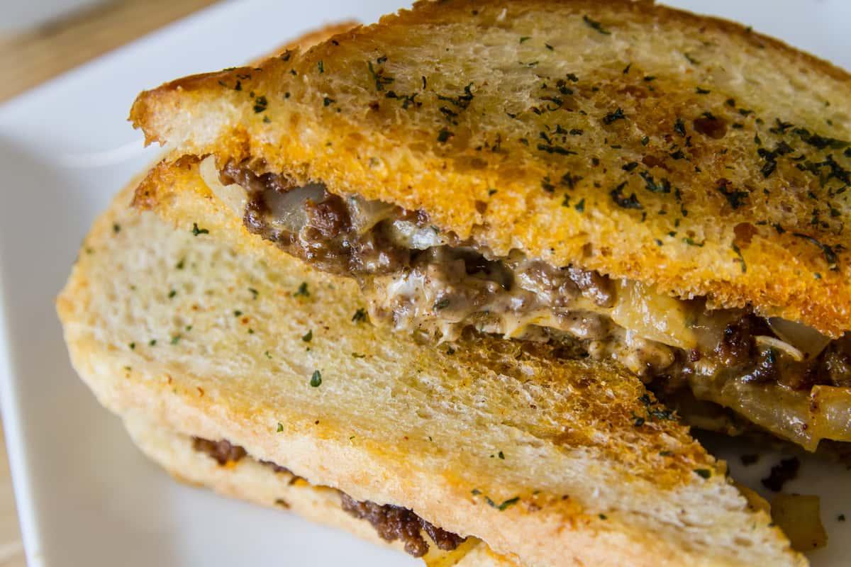 Ground Beef Patty Melt Sandwich