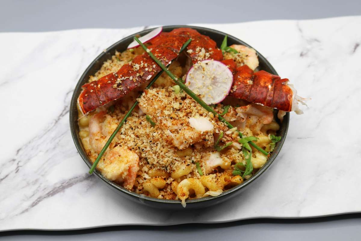 Lobster Mac & Cheese Thermidor with Shrimp