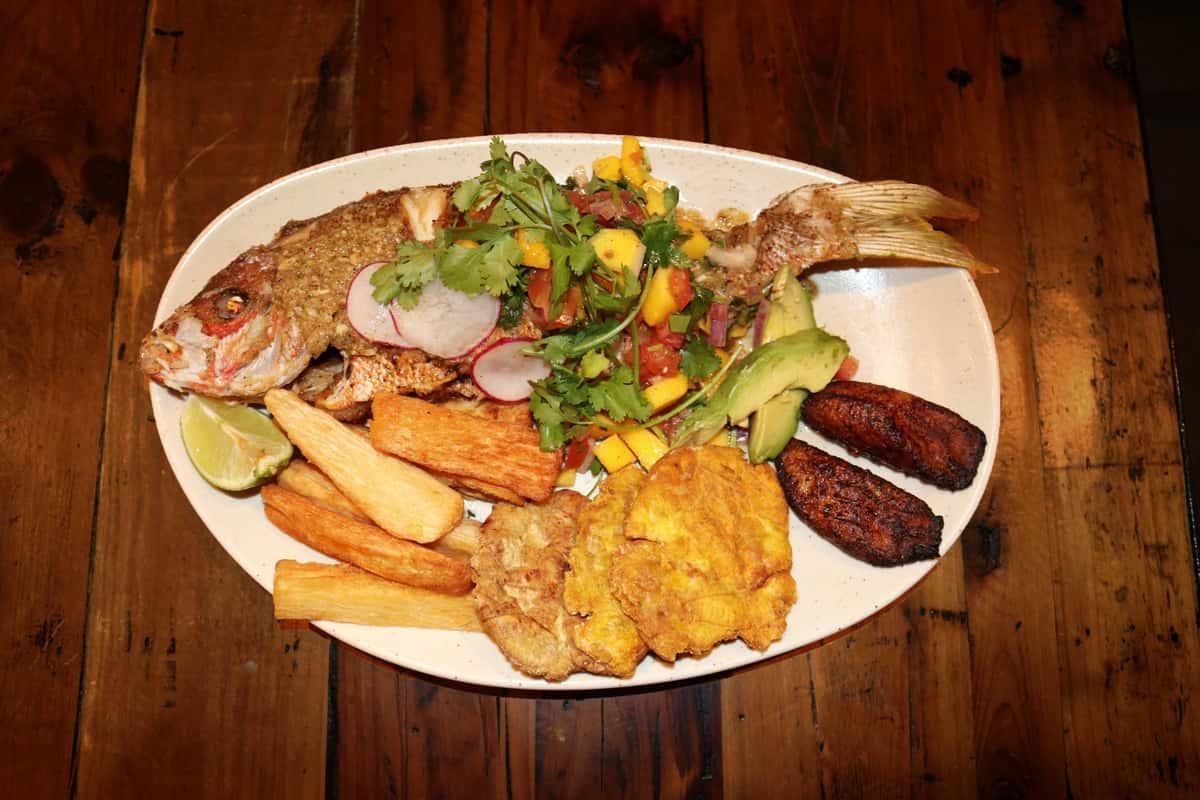 Pargo Frito a lo Cubano (Fried Cuban Spiced Whole Red Snapper)