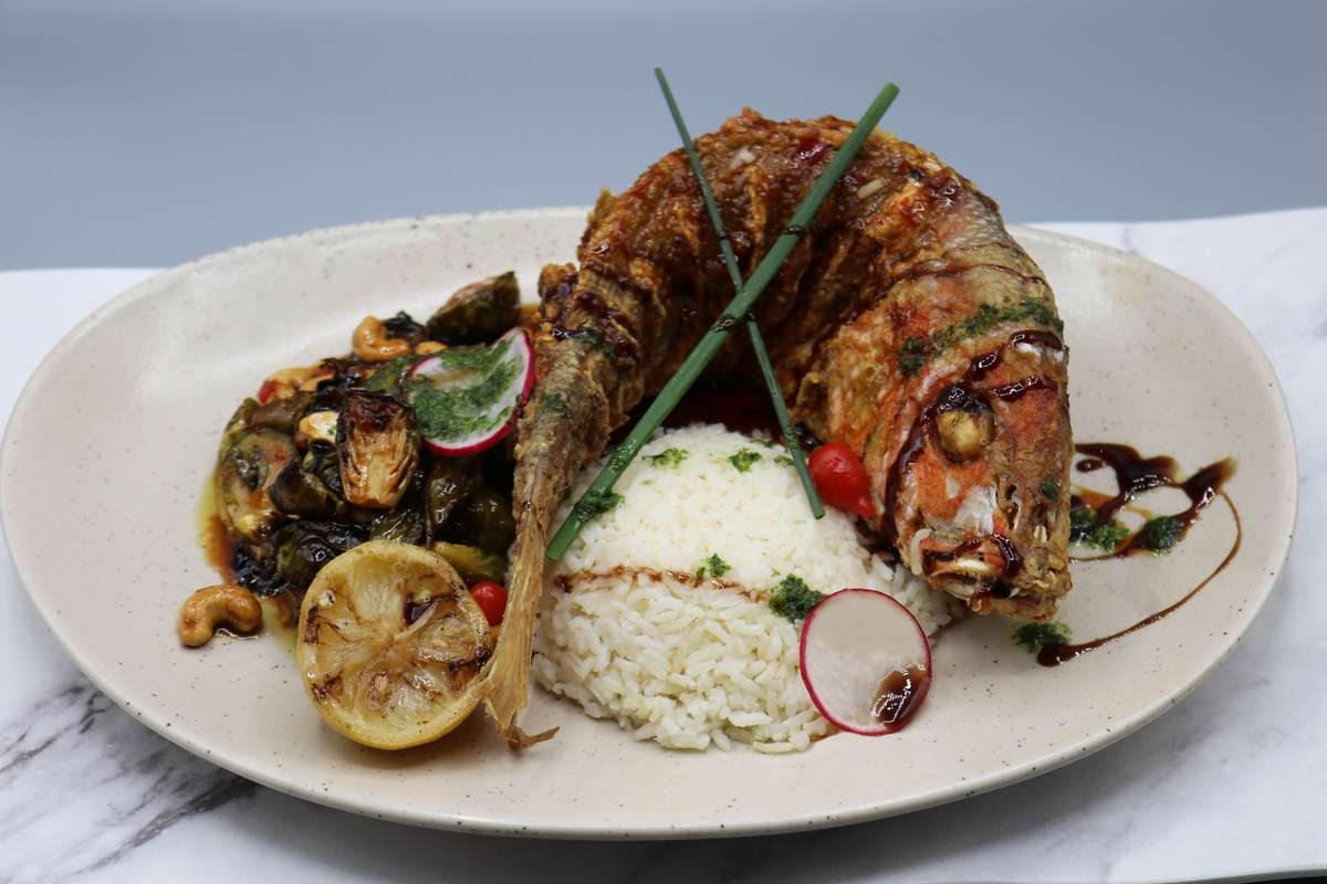 Crispy Asian Style Whole Red Snapper