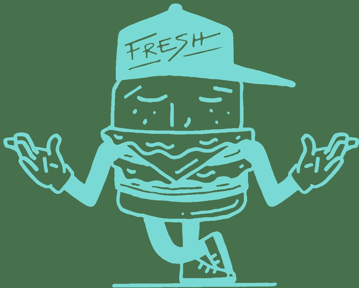 Burger Mojo mascot