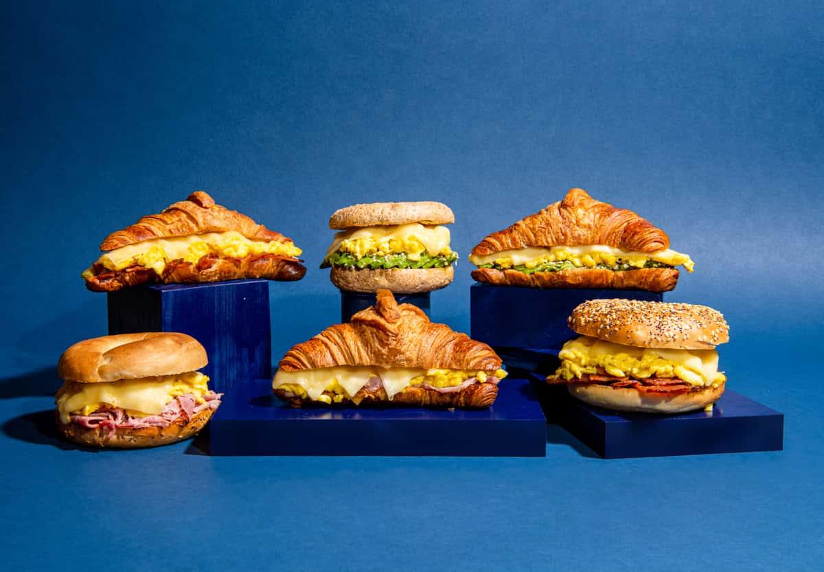 6pcs Croissant Breakfast Sandwiches