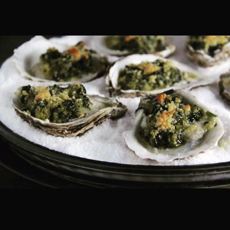 Roasted Garlic Pancetta Oysters