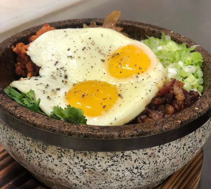 Breakfast Rice in a Stone Bowl