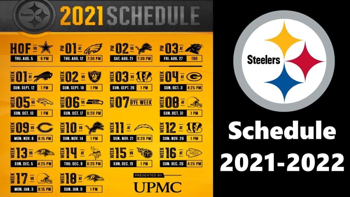 Steelers 2018 schedule