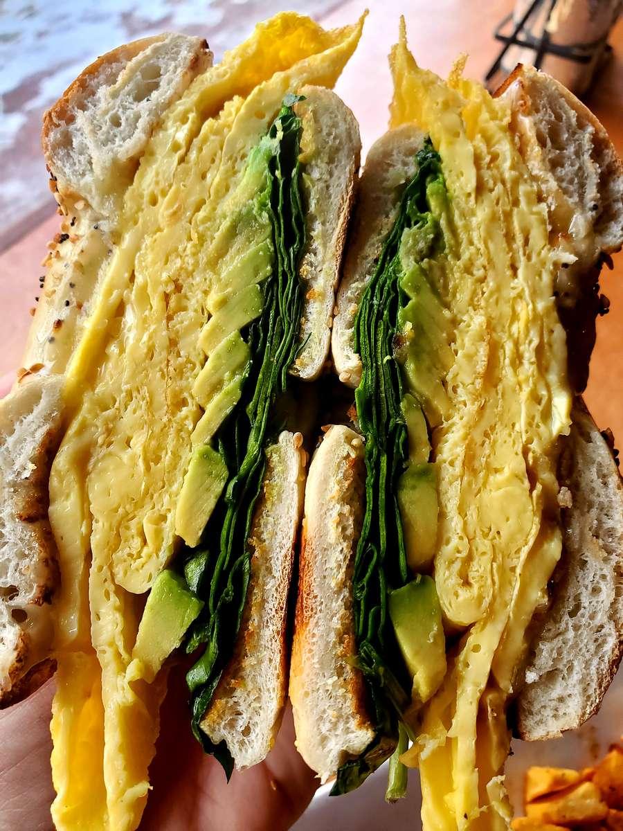 The Veggie Egg Sandwich