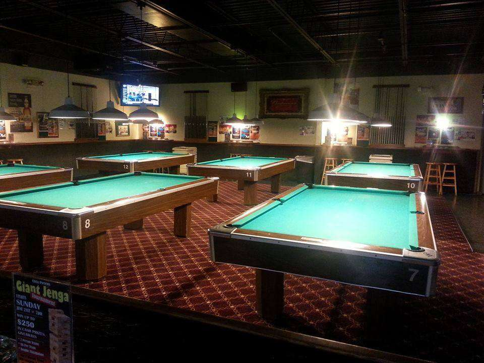 Room of pool tables