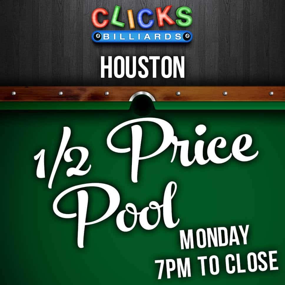 Monday 1/2 price pool