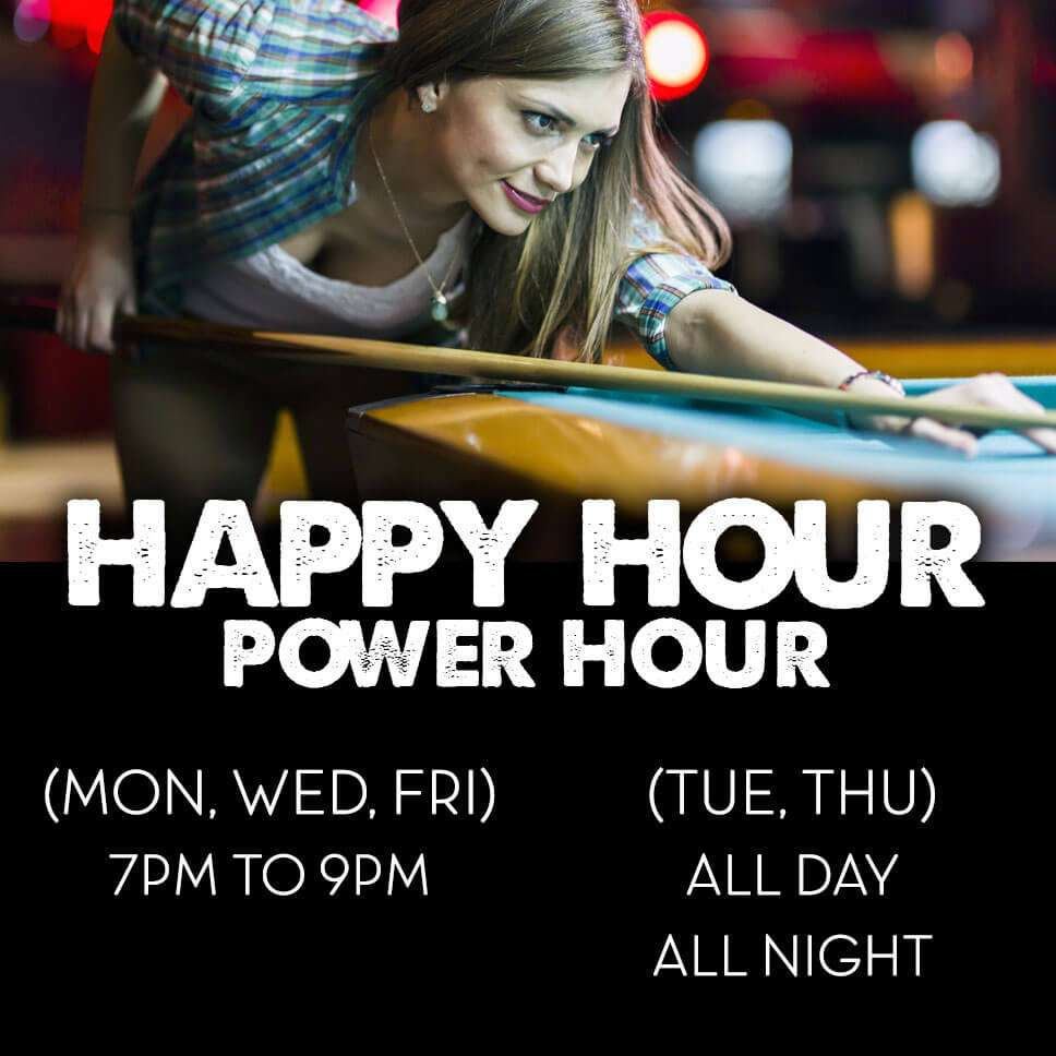Happy Hour Power Hour infographic