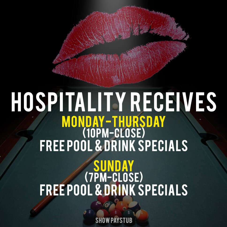 Hospitality Appreciation hours