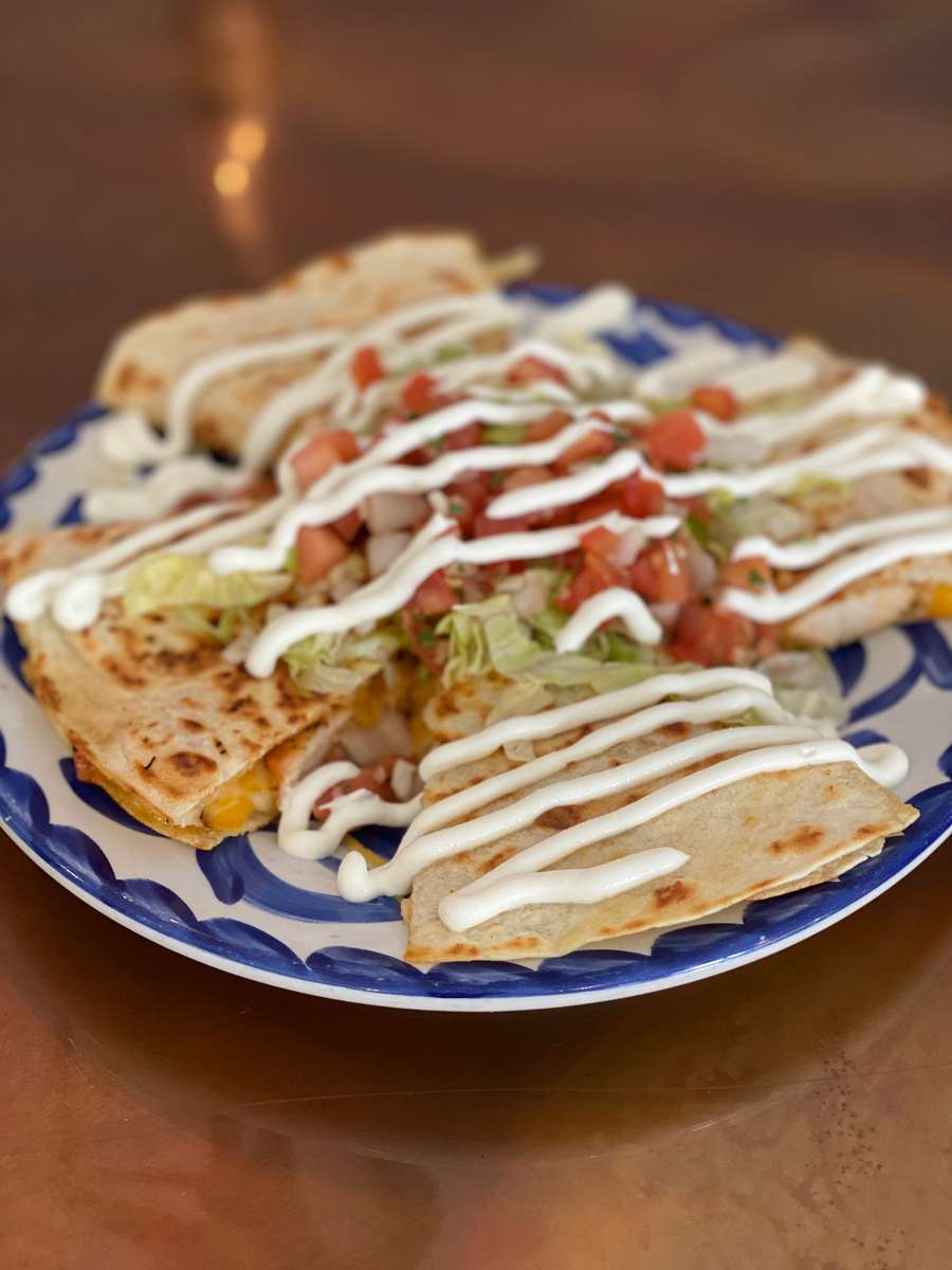 1/2 PRICE Pulled Chicken, Cheese, Beef & Veggie Quesadillas